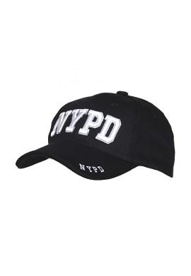GORRA MODELO ``NEW YORK POLICE DEPARTAMENT`` DE LOS ESTADOS UNIDOS  100% MATERIAL ALGODÓN EN COLOR NEGRO